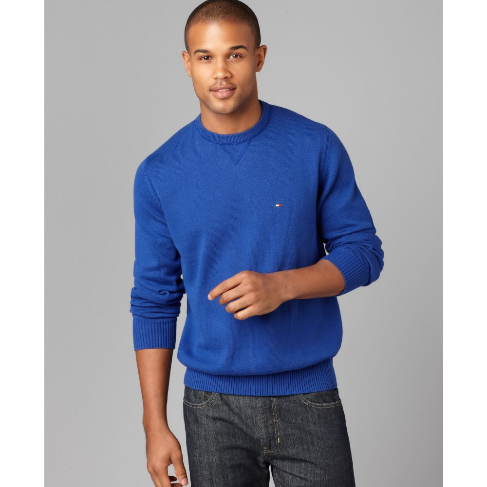 9ded709809082 Lyst Tommy Hilfiger Grant Crew Sweater In Blue For Men