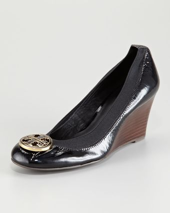 Tory Burch Caroline Logo Wedge - Lyst