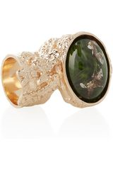 Yves Saint Laurent Arty Rose Goldplated Glass Ring