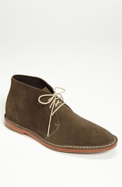cole haan paul chukka boot in gray for grey suede lyst