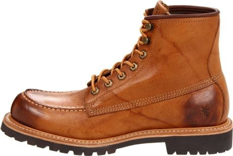 frye mens dakota lace up boot in brown for wheat lyst