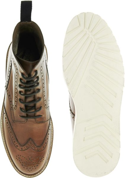 Brogue Boots Asos Asos Leather Brogue Boot