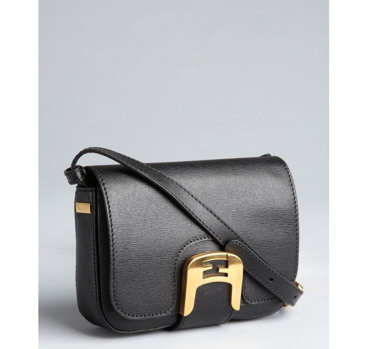 c89931739d61 ... Fendista Mini Crossbody Bag in Black wholesale dealer 15260 95ba6  Lyst  - Fendi Black Crosshatched Leather Chameleon Mini Cross best authentic  2a150 ...