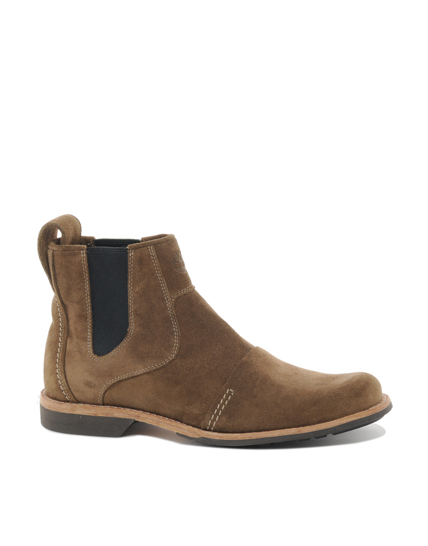 timberland earthkeepers city chelsea boots in beige for