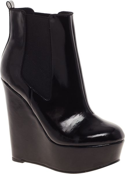 Asos Asos Attend Chelsea Wedge Ankle Boots in Black
