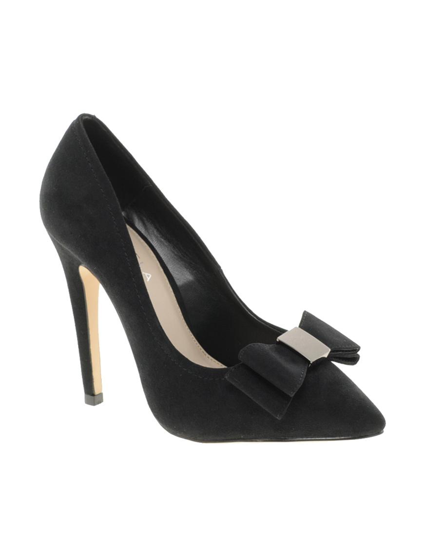 Carvela Black Suede Court Shoes