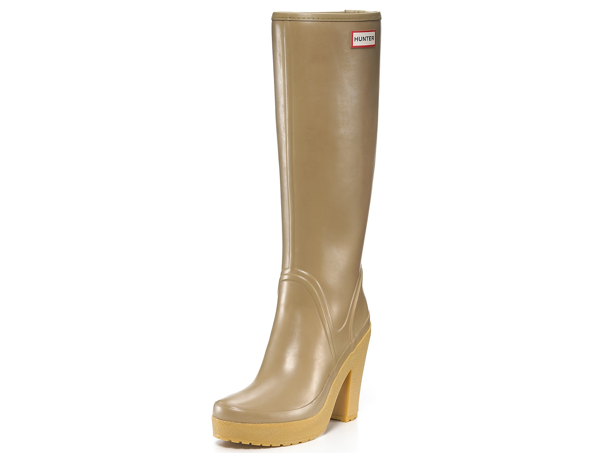 Lyst - Hunter Rain Boots Lonny High Heel In Green