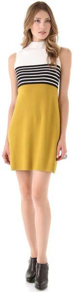 Milly Rita Sweater Dress in Yellow (gold)