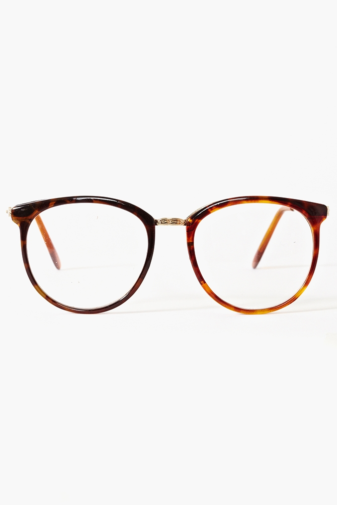 Nasty gal Ivy League Glasses Tortoise in Brown Lyst