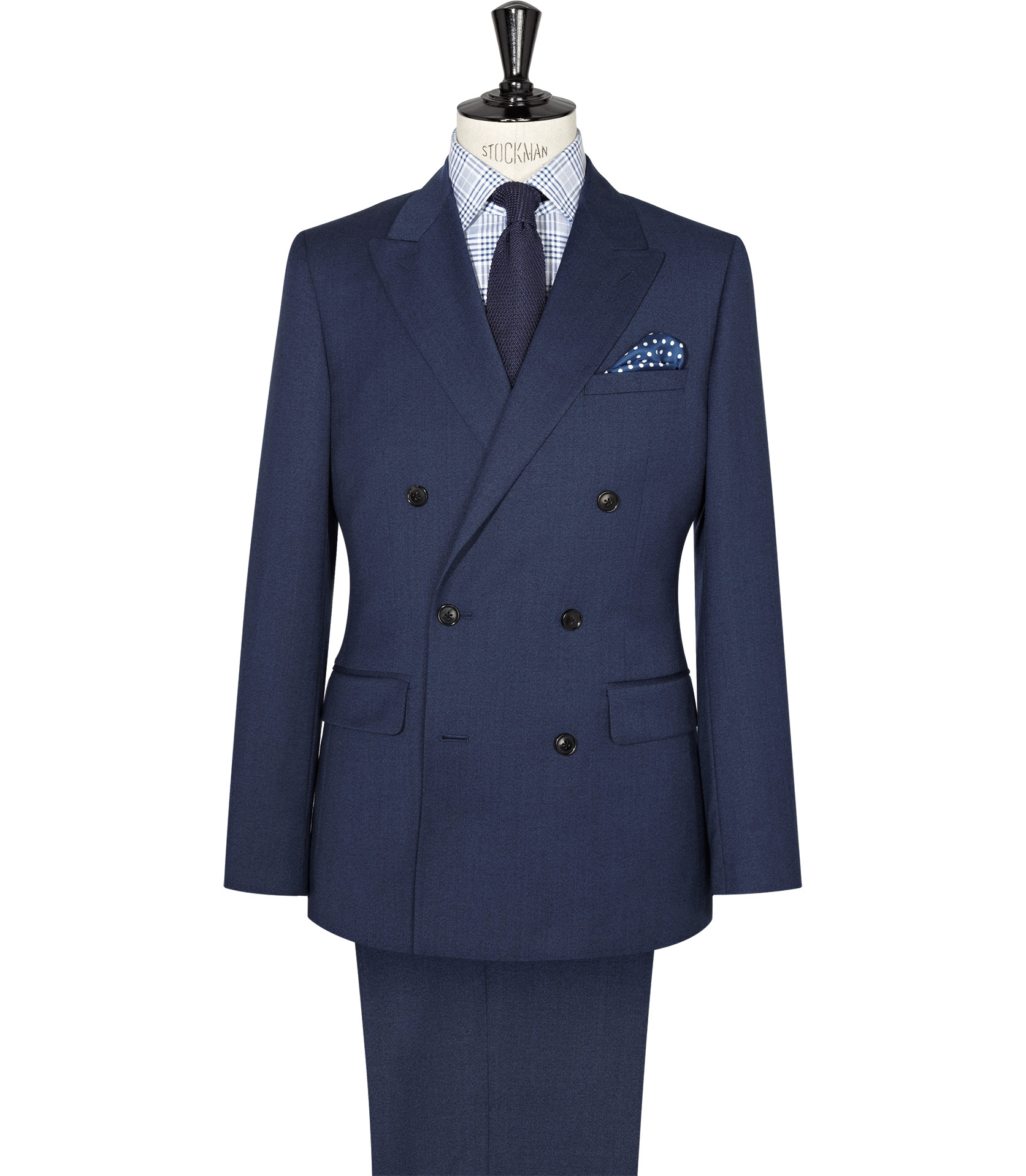 Reiss Scotsdale Double Breasted Suit in Blue for Men | Lyst