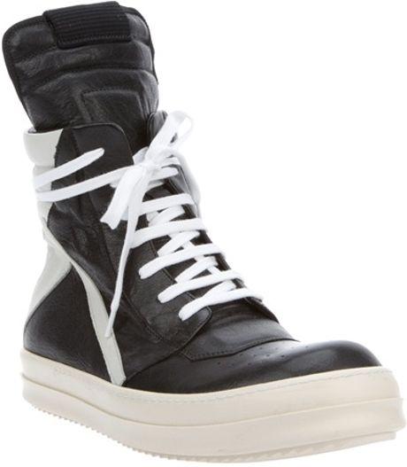 rick owens geobasket hightop sneaker in black for men lyst. Black Bedroom Furniture Sets. Home Design Ideas
