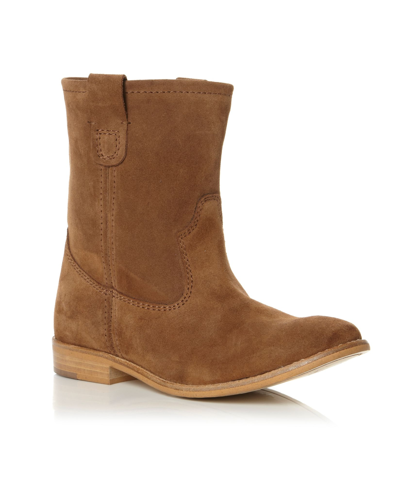 dune peka slouch suede boots in brown lyst