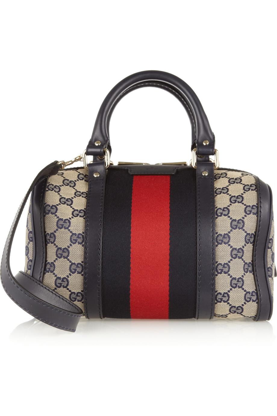 1e0e894351e Gucci Vintage Web Gg Canvas Mini Bowling Bag in Gray - Lyst