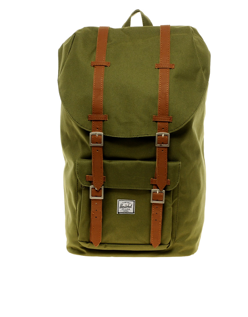 Lyst - Herschel Supply Co. Little America Backpack in Green for Men 6d1d9e8c49b47