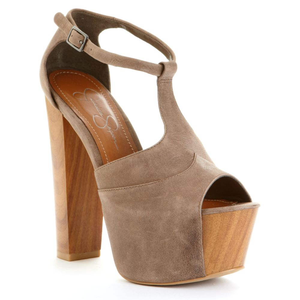 d05ebe84dba Lyst - Jessica Simpson Dany Platform Sandals in Brown