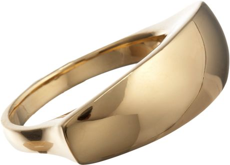 Maiyet Gold Sculpt Ring in Yellow