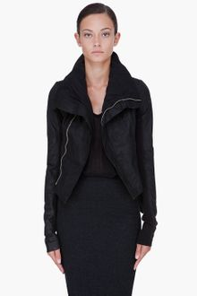 Rick Owens Black Naska Leather Biker Jacket - Lyst