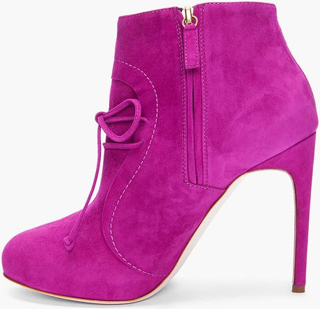 Pink Suede Ankle Boots Suede Ankle Boots in Pink