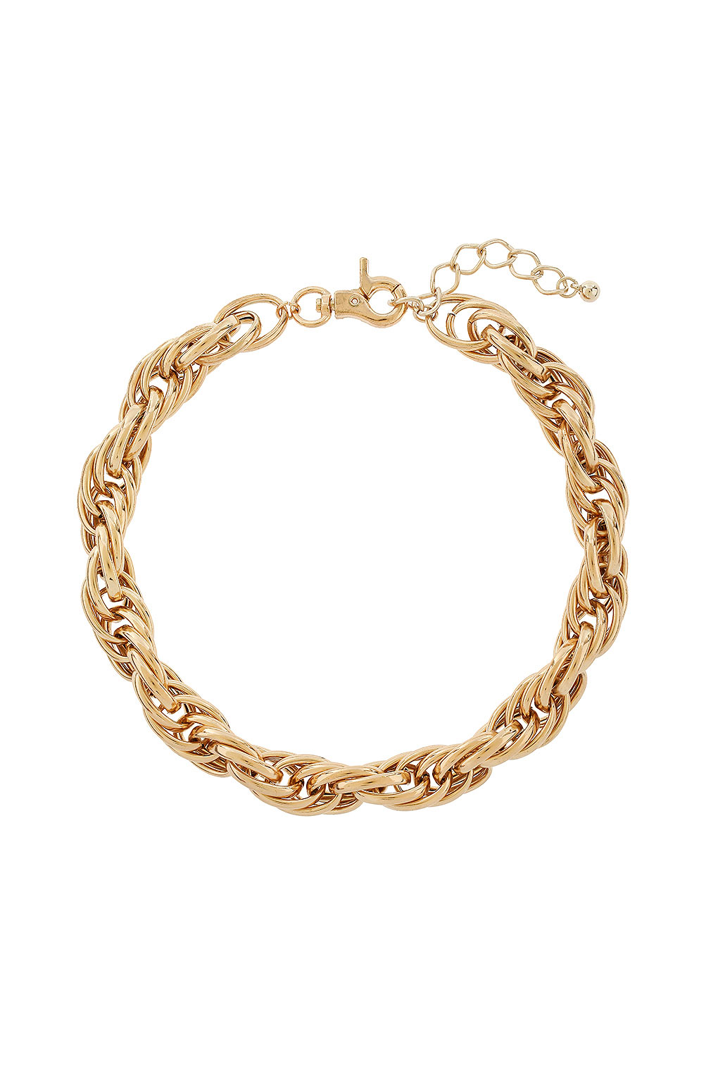 topshop chunky chain necklace in gold lyst