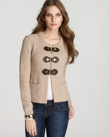 Tory Burch Ross Cardigan in Beige (bisque melange) - Lyst