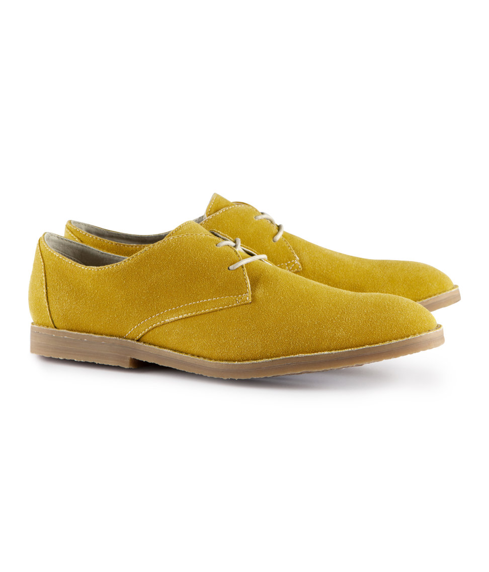 h m shoes in yellow for mustard lyst
