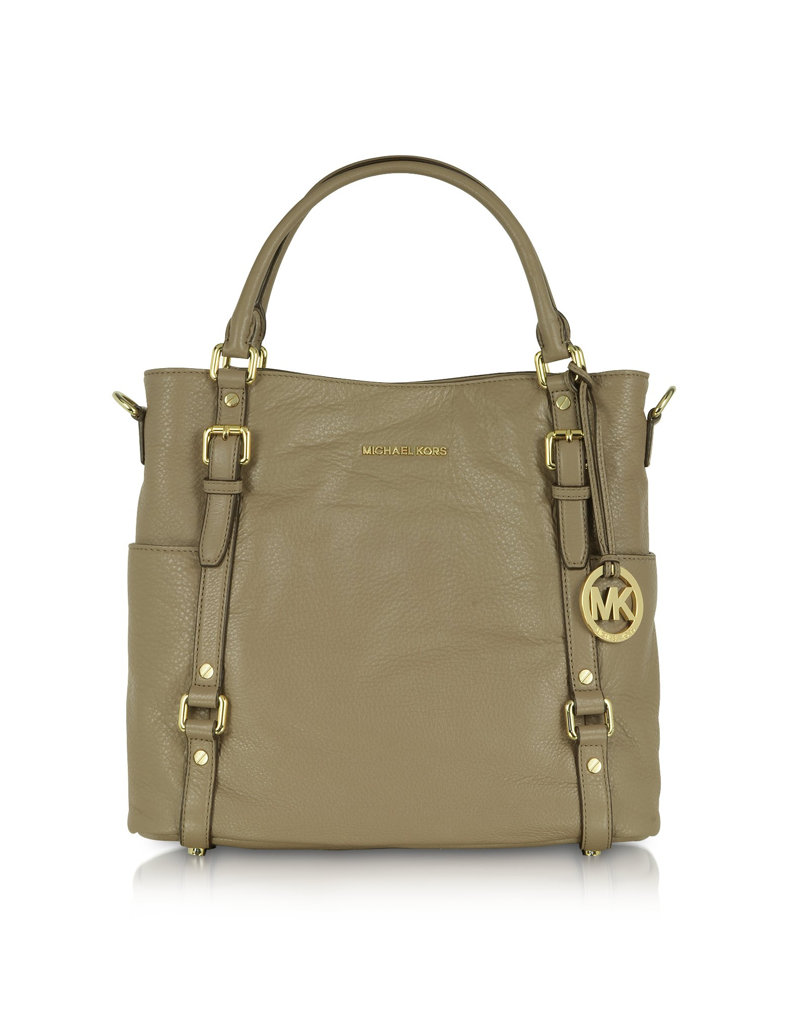 936ac49985940 uk lyst michael kors bedford genuine leather northsouth tote in natural  a186f bc828