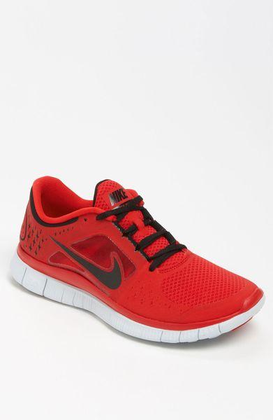 nike free run 3 running shoe in red for men red black