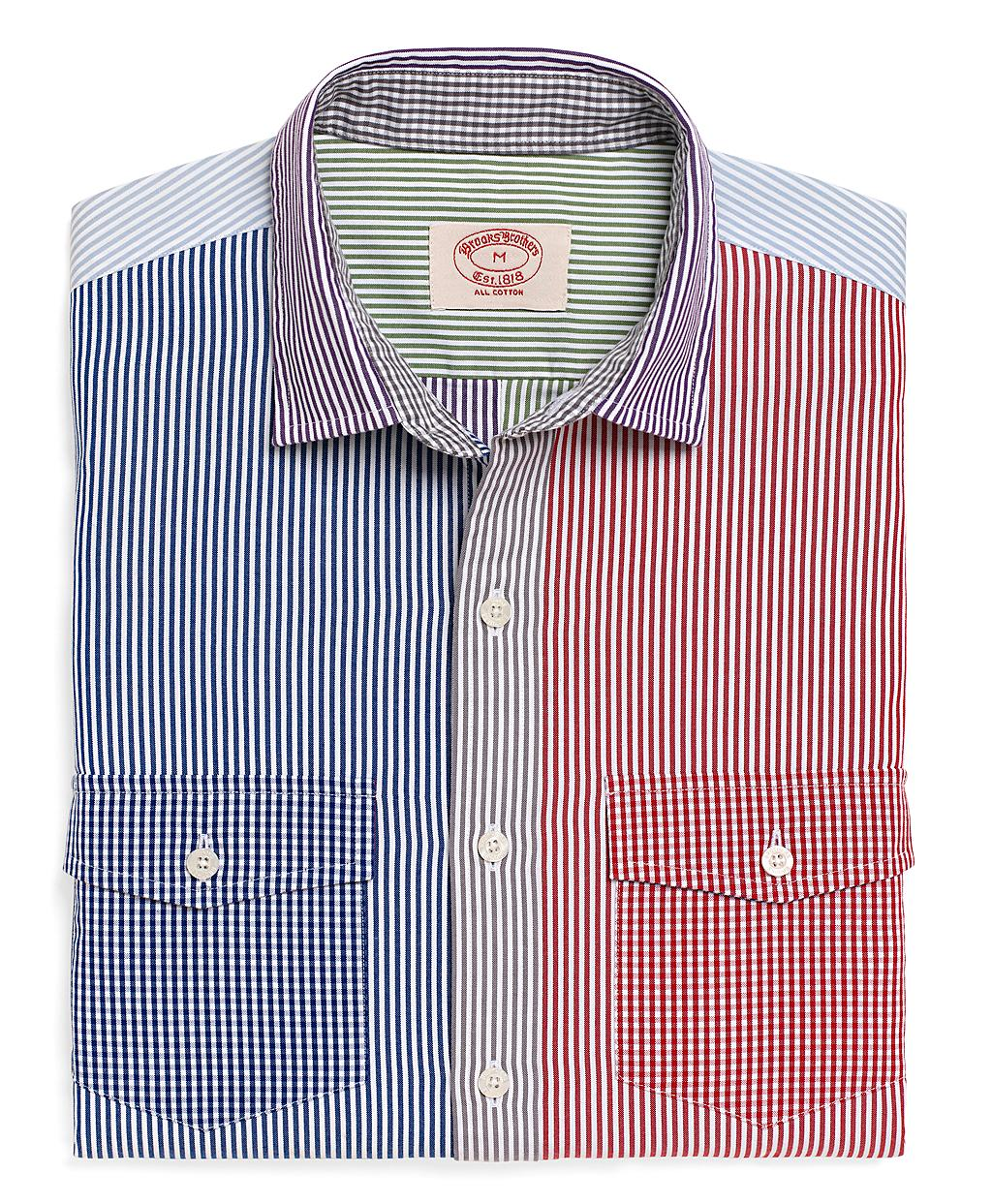 Lyst Brooks Brothers Pinpoint Fun Sport Shirt For Men