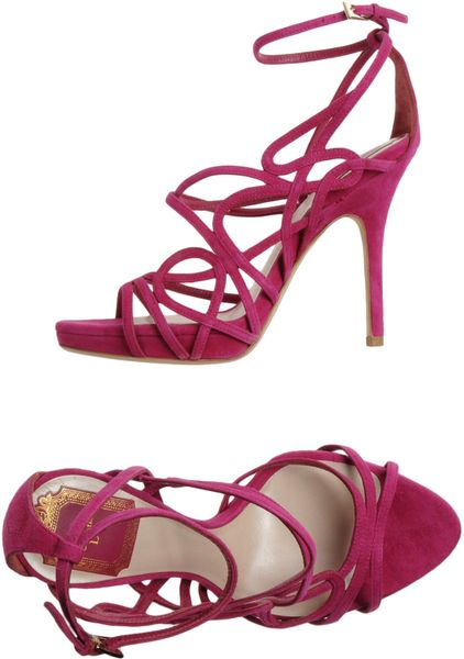 Dior Platform Sandals in Purple (mauve)