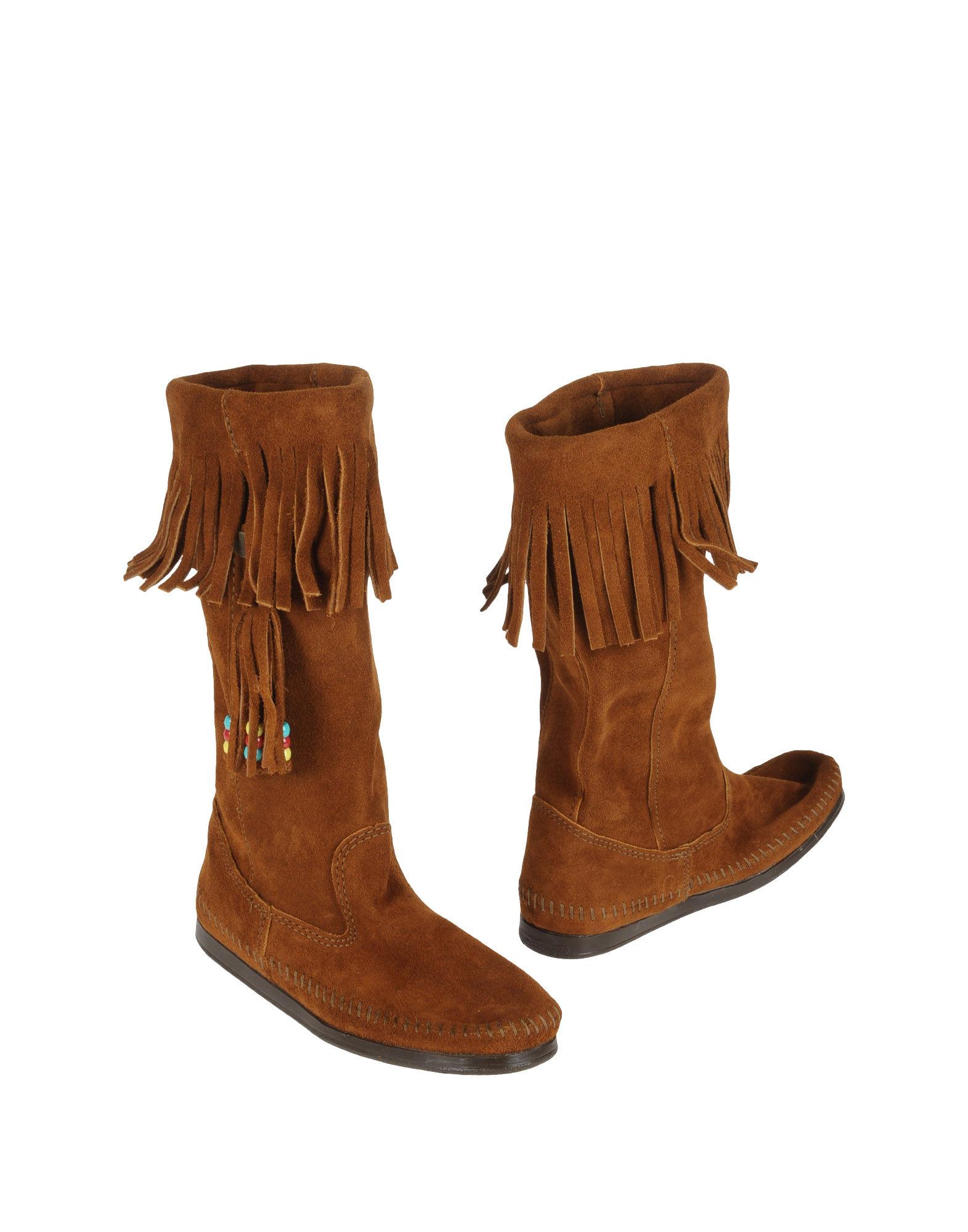 minnetonka boots in brown lyst