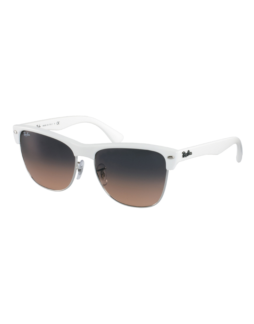 white clubmaster ray ban  Ray-ban Clubmaster Sunglasses in White for Men