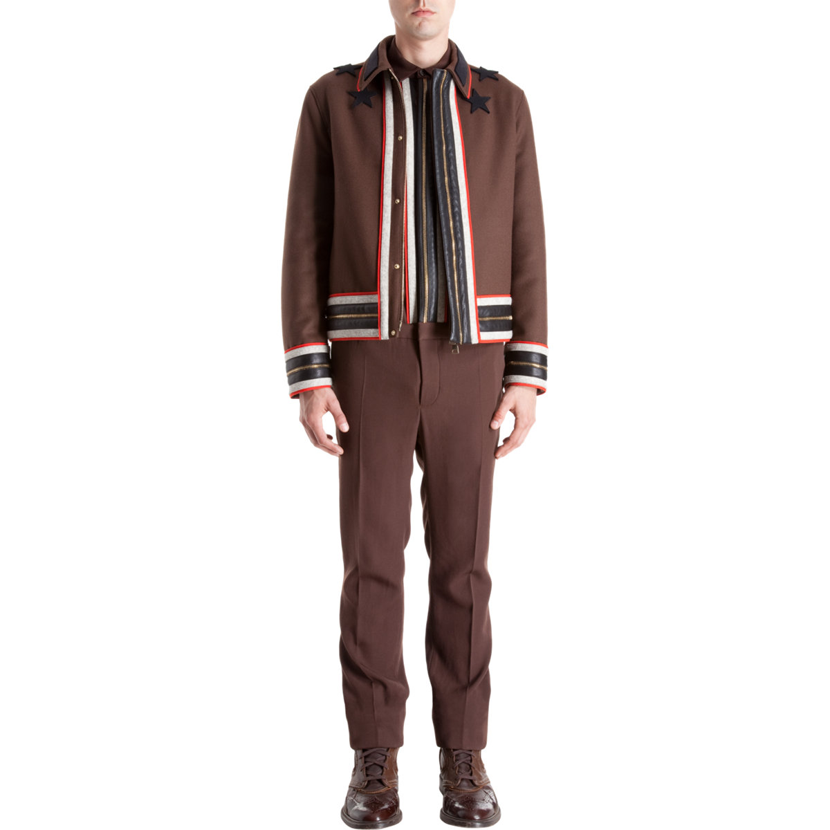 Lyst Givenchy Bomber Jacket In Brown For Men