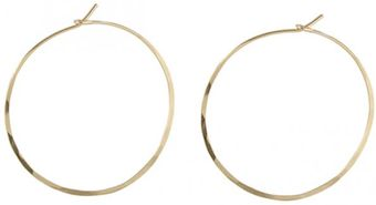 Peggy Li Hammered Hoop Earrings Gf - Lyst