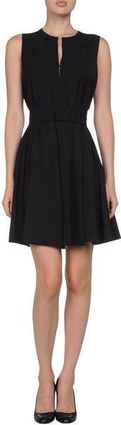 Vionnet Short Dress in Black - Lyst