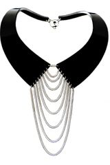 Zelia Horsley Jewellery Collared Necklace Silver