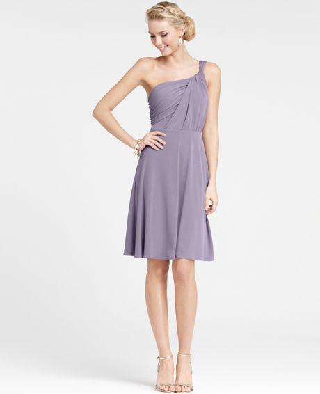 Ann Taylor Wedding Dresses: Ann Taylor Jersey One Shoulder Bridesmaid Dress In Purple