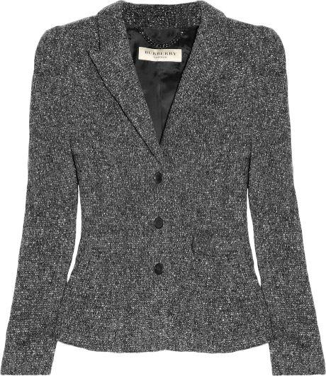 Burberry Tweed Jacket in Gray