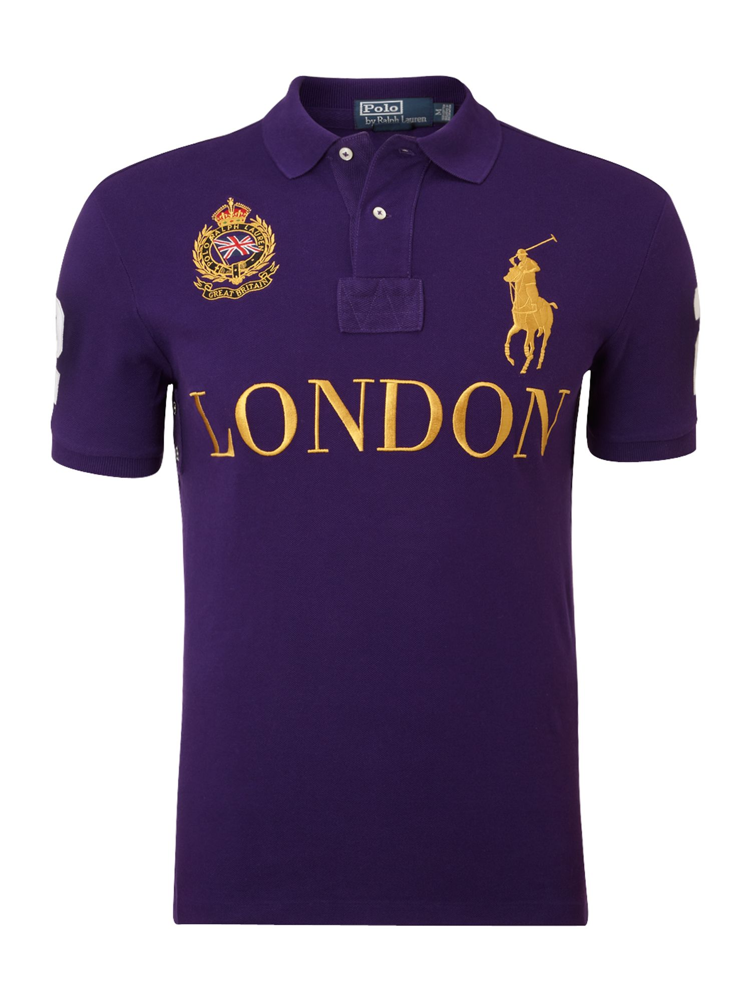 polo ralph lauren london custom fitted polo shirt in