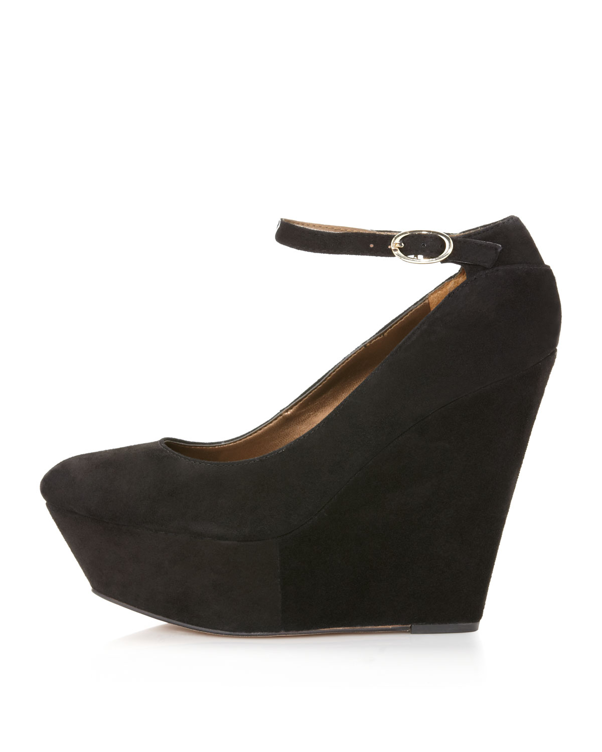 4221cf20ed090 Lyst - Sam Edelman Quinn Suede Platform Wedge in Black