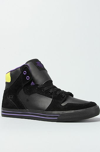 Supra The Vaider Sneaker in Black Leather Suede - Lyst