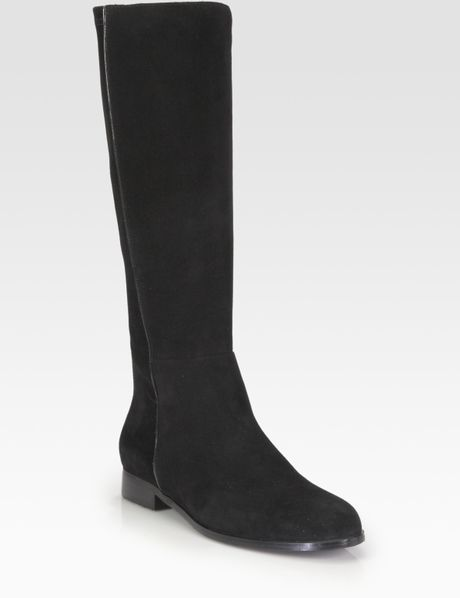 aquatalia by marvin k suede kneehigh boots in black lyst