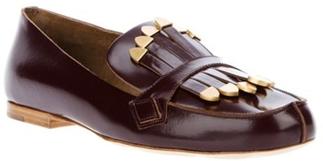 Chloé Mocassin Shoe in Brown (burgundy)