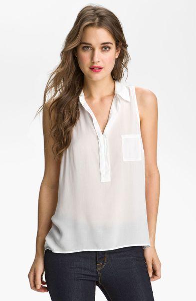 Splendid Sleeveless Shirt In White Lyst