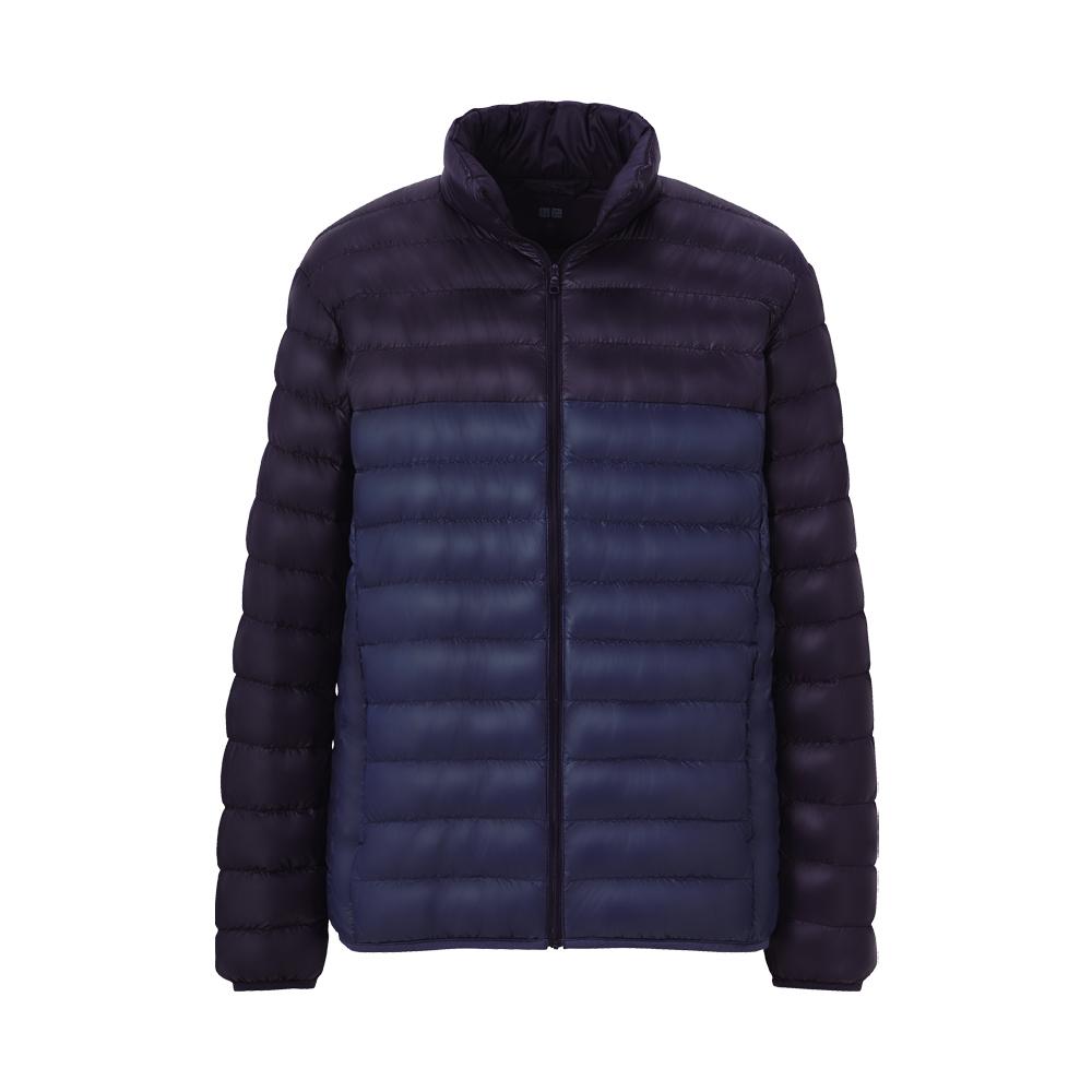 uniqlo premium down ultra light jacket in blue for men lyst. Black Bedroom Furniture Sets. Home Design Ideas