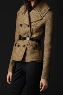 Burberry Prorsum Oversize Collar Wool Jacket - Lyst