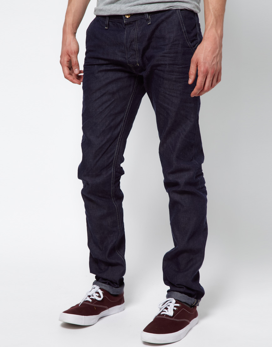 Lyst Diesel Jeans Kakee 802a Slim Chino In Blue For Men