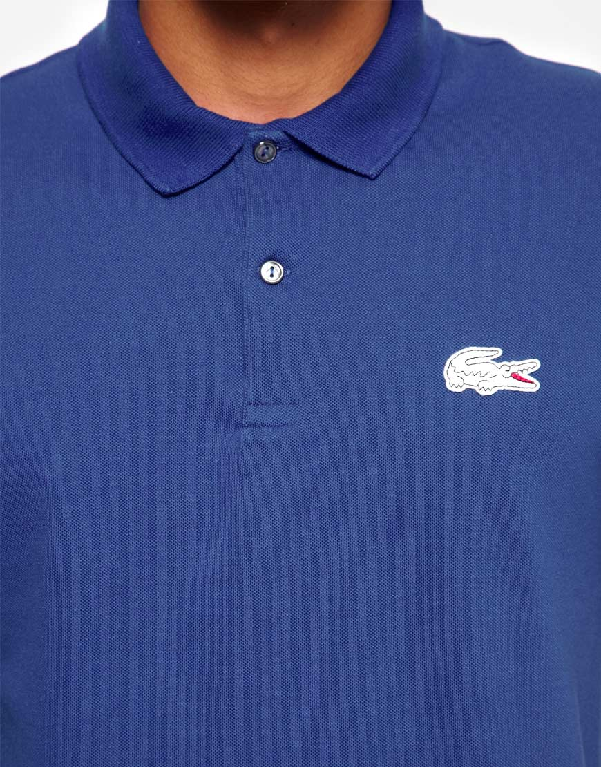 Lacoste Live Polo Shirt With Big Logo Anlis