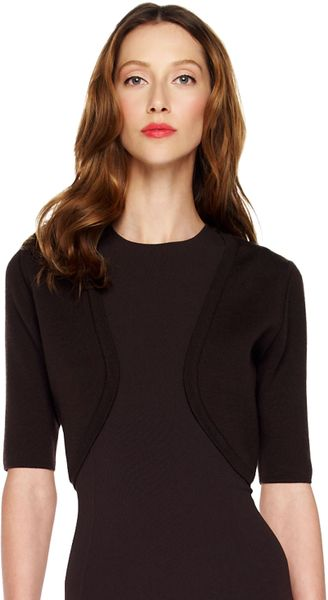 Michael Kors Wool Shrug in Black (chocolate)