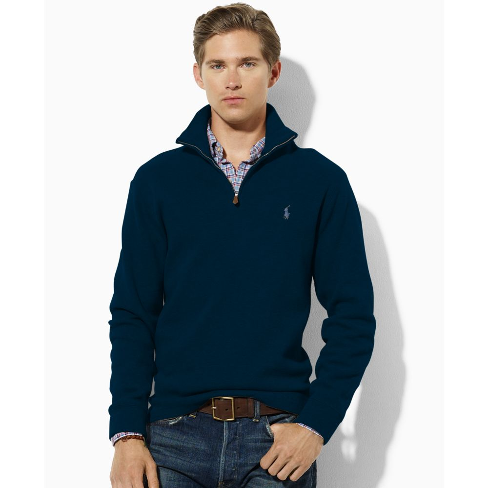 Navy Blue V Neck Sweater