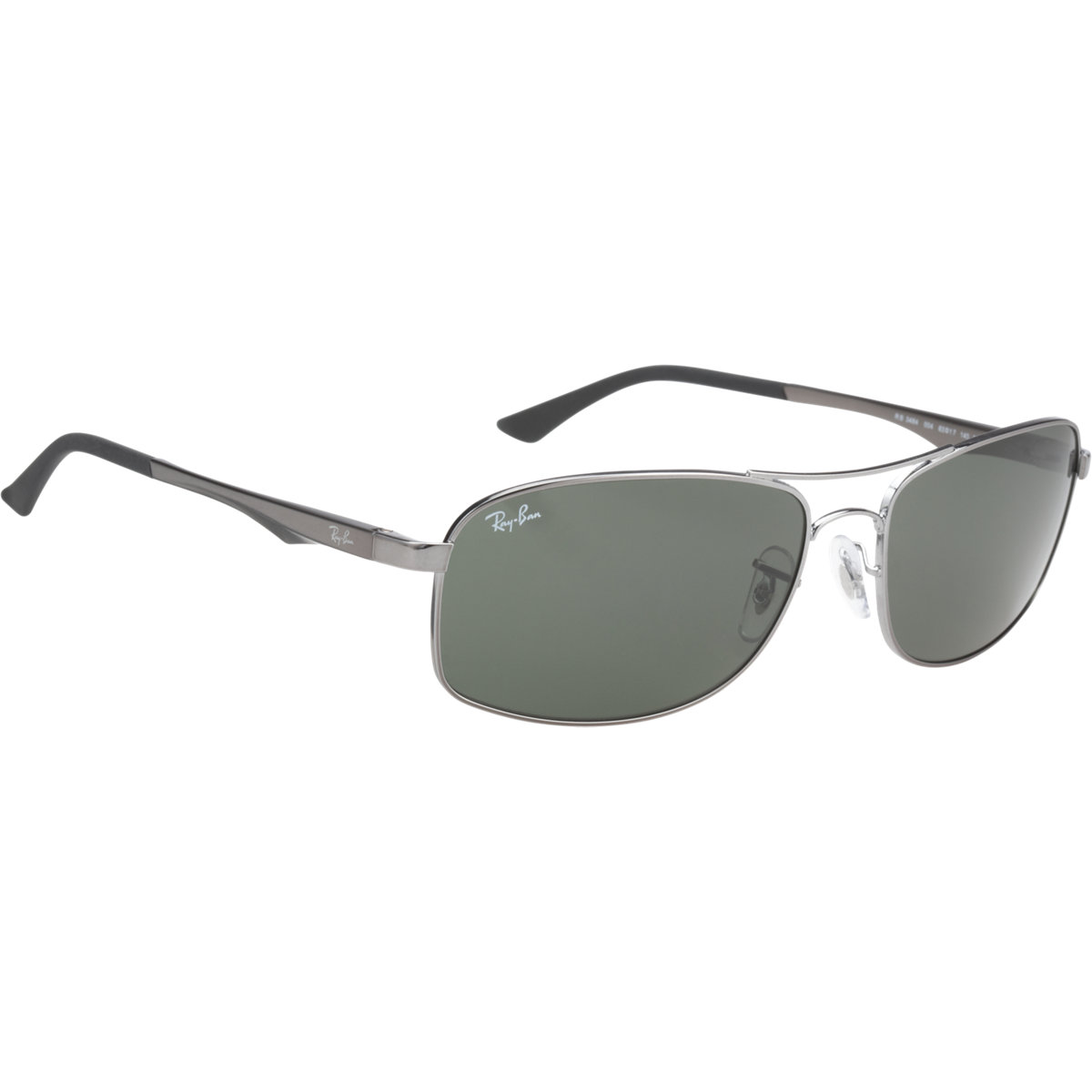 Ray-ban Rectangle Frame Sunglasses in Silver for Men ...